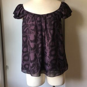 Rebecca Taylor Flutter Sleeve Blouse, Size 2